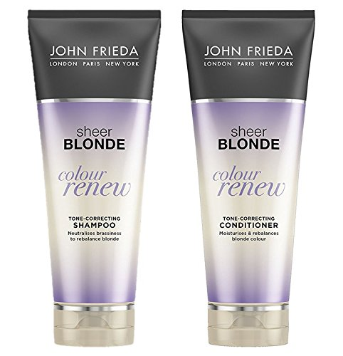John Frieda Sheer Blonde Colour Renew Tone Correcting Shampoo and Conditioner 250ml Duo Set