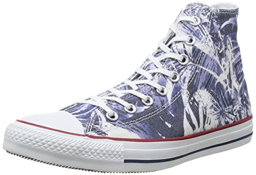 Converse All Star Hi Graphics, Chuck Taylor Hi Canvas Graphic mixte adulte Blue Palms