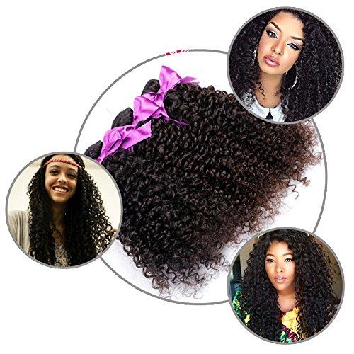 YanT HAIR Haarverlängerung, 10inch&12inch&14inch, , Natural Black, Stück: 3