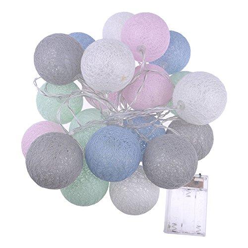 Lámpara led HuaYang decorativa hilo algodón, pilas