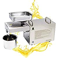 CGOLDENWAL Prensa de Aceite Electrónica 1500W Acero Inoxidable Máquina de Prensa de Aceite con Prensa Fría&Caliente