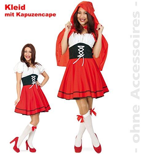 Damen Kostüm Rotkäppchen (36) zu Karneval, Fasching