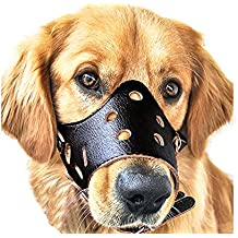 Bozales para perros cuero anti-ladridos anti-mordida perro esenciales seguridad