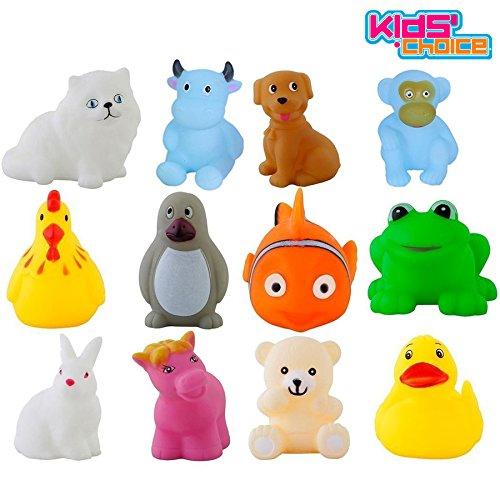 Kids Choice Chu chu Bath toys Set of 12, Multi-color