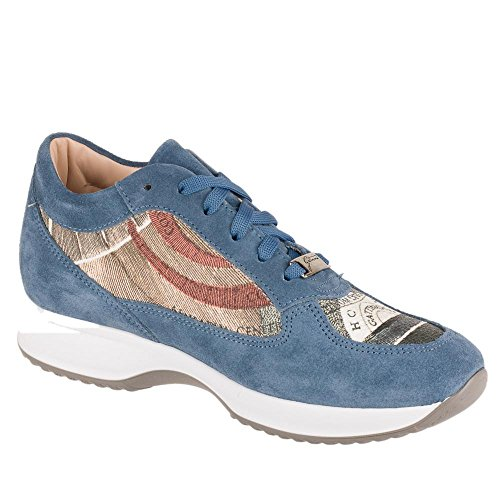Gattinoni 6043 Sneakers Donna Pelle/Eco-pelle Denim/Rose Denim/Rose 38