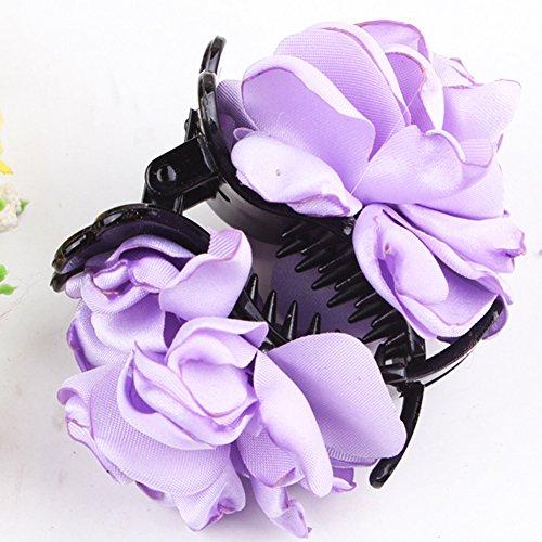 Gemini _ Mall® Damen Mädchen Fashion Stoff Rose groß Blume Klemme Haarklammer, Zubehör Geschenk
