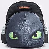 Dreamworks Dragons Ohnezahn Toothless Kinder Rucksack, schwarz