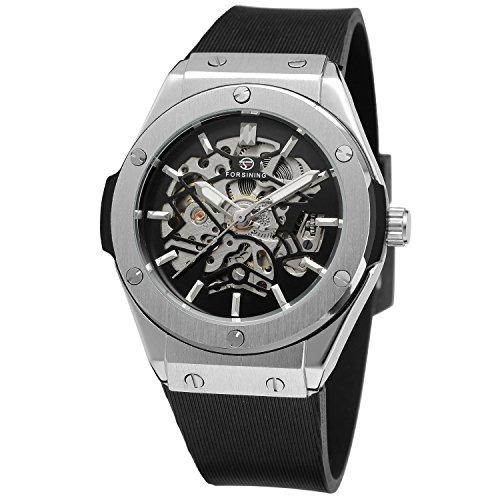 Forsining Herren Uhr Analog Automatik mit Kautschuk Armband FSG8107M3S1
