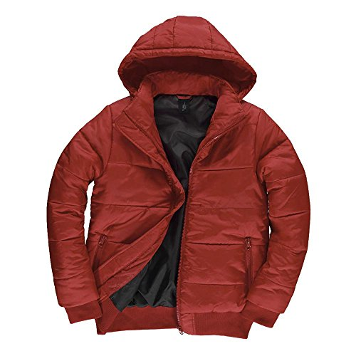 B&C - Herren Jacke 'Superhood' Red/Black