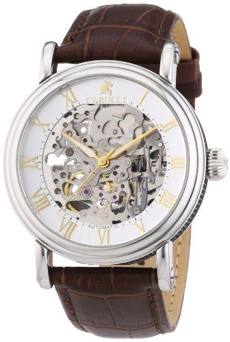 Carucci Watches CA2203BR - Orologio da polso uomo, pelle, colore: marrone