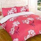 Bettdeckenbezug & Kissenbezug Dana Bettwäsche-Set für Kingsize-Betten, Pink
