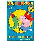 Peppa Pig–Tarjeta de cumpleaños para Nieto (con insignia)