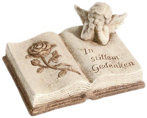 floristikvergleich.de Brauns Heitmann 6711 Keramik-Buch mit Engel, 19 x 14 cm, champagner, braun