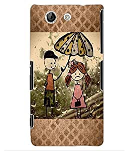 ColourCraft Cartoon Drawing Design Back Case Cover for SONY XPERIA Z4 MINI / COMPACT