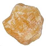 Orangen Calcit XL Rohstein Rohstück aus Mexiko schöne orange Farbe ca.1,0 - 1,2 kg.(3712)