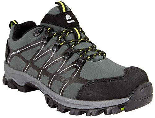 GUGGEN MOUNTAIN Herren Trekkingschuhe Wanderschuhe Wanderhalbschuhe wasserdicht Outdoor-Schuhe Walkingschuhe T003 Farbe Grau EU 42