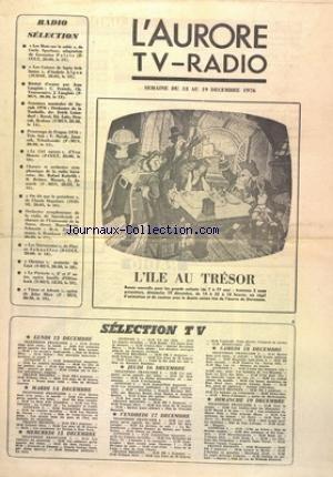 AURORE TV RADIO (L') du 13/12/1976 -...