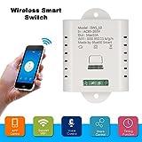 OWSOO WiFi Inteligente Interruttore 10A Wireless Leggero Interruttore Temporizzato Phone App Telecomando per Amazon Alexa Controllo Vocale Kit di Automazione Domestica