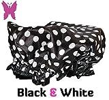 Adult Regular , Black & White : Lula Lilly Designer Shower Cap for Small & Petite Women (Adult Regular, Black & White)