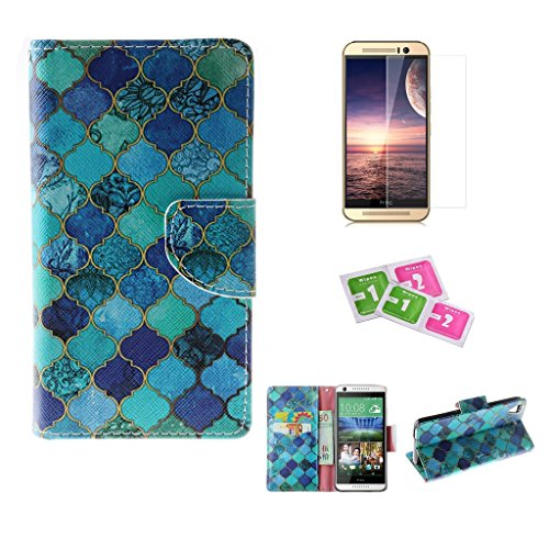 htc-desire-626-case-jgntjls-with-free-tempered-glass-screen-protector-premium-pu-leather-wallet-embe