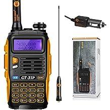 Baofeng GT-3 TP Mark III VHF / UHF 1/4 Tri-Power / 8W walkie talkie Rango más eficiente para hablar + cargador de coche + Adaptador de antena + cargador de sobremesa + Li-ion batería
