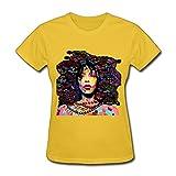 Grossbull YZ R&b Soul Singer Erykah Badu T Shirt For Women White Large