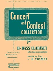 Concert & Contest Collection For Bb Bass Clarinet: Solo Book Only (Rubank Educational Library)