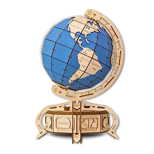 Eco Wood Art The Globe DER GLOBUS BLAU