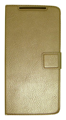 Zocardo Faux Leather Flip Case Flip Diary Cover For Huawei Honor Holly U19 -Gold With Stand Magnetic Lock  available at amazon for Rs.399