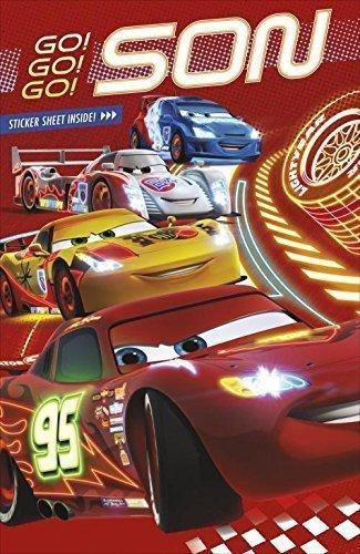 Son-Disney-Pixar-Cars-Birthday-Card-Stickers