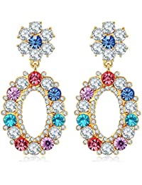 Jewels Galaxy Copper Drop Earrings for Women (Multi-colour) (SMNJG-ERG-2367)
