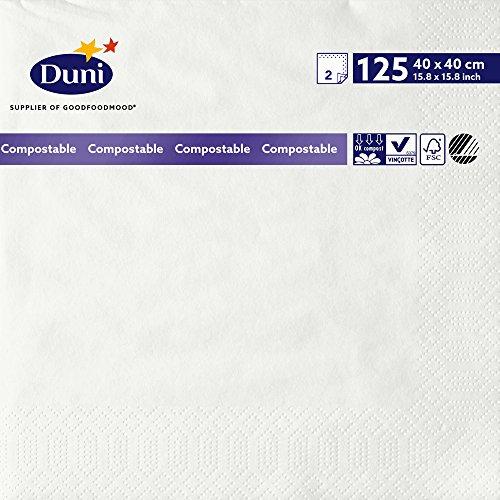 Duni 1789942lagig Tissue Servietten, 40cm x 40cm, weiß (1250Stück) - Wirtschaft Tissue-papier