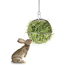 Treasure-house Dispensador de heno para colgar pelotas de juguete para conejo, chinchilla,
