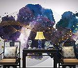 Foto Carta Da Parati 3D Inchiostro Cinese Colorato Strisce Piastra Sfondo Muro Carta Da Parati Personalizzato Soggiorno Hall Studio Murale,210Cm (H) X 290Cm (W)