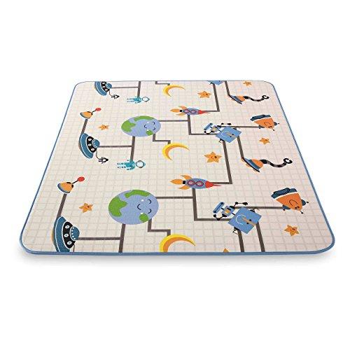 *Baby Vivo Premium Spielteppich Galaxy | Krabbeldecke Kinderspielteppich Spielmatte Playmat Spieleteppich Erlebnisdecke Krabbelmatte Spieldecke | 1 cm dicker Kinderteppich XXL 200 x 180 cm*