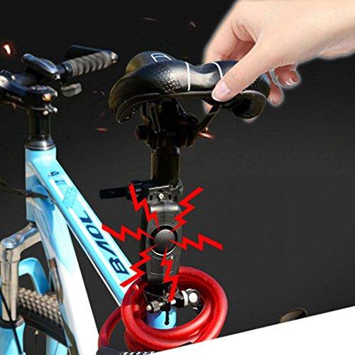 Allarme antifurto per bici contro vibrazioni e movimenti, senza fili e con telecomando, ideale per moto, bici, veicolo di sicurezza, all'esterno, ricaricabile con USB