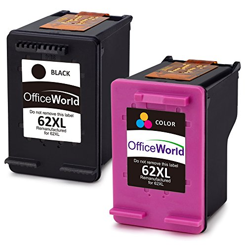 OfficeWorld 62XL Rigenerata HP 62 Cartucce dinchiostro Alta capacità Compatibile con HP Envy 5540 5544 5546 5547 5640 5642 5644 7640 5646 5542 HP
