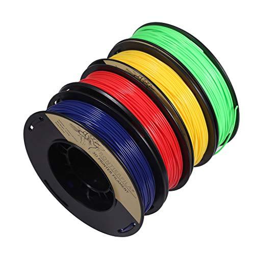 PLA 1.75mm 4x250g azul/rojo/amarillo/verde - Filamento para impresora 3D - FrontierFila