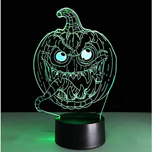 Neuheit Usb Led 3D Lampe Halloween Kürbis 3D Leuchten Kreative Geschenke Für Valentinstag Kinder Lampe Schlafzimmer