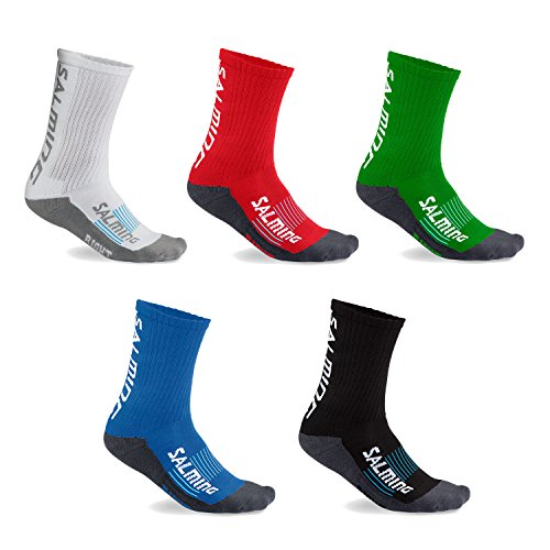 2 Paar Salming Advanced Indoor Unisex Sportsocken (weiß, 43-46)