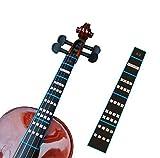 FineFun, segnatasti adesivi per violino, aiuto per le dita con tabella dei tasti, per violini 4/4, 3/4, 2/1, 4/1, 8/1 ed 10/1 4/4