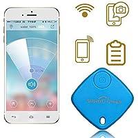 Sidiou Group Mini Bluetooth Rastreador Bolsa Niño Alarma Monedero Anti-perdido Rastreador Clave Pet Smart Buscador Mini GPS localizador de alarma para Android IOS (azul)