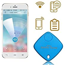 Sidiou Group Mini Bluetooth Rastreador Bolsa Niño Alarma Monedero Anti-perdido Rastreador Clave Pet Smart Buscador Mini GPS localizador de alarma para Android IOS (azul)