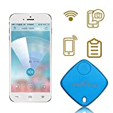 Sidiou Group Torcia LED anti-Lost Key Finder Locator Trova catena chiave Keychain Sound Control fischio (1-Blue)
