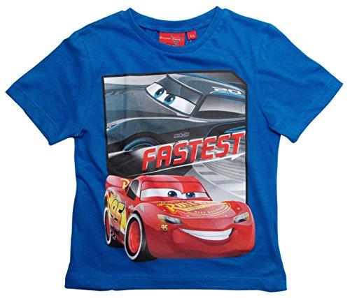 Cars Disney 3 T-Shirt 2018 Kollektion 92 98 104 110 116 122 128 Shirt Kurz Sommer Lightning McQueen Jungen (Blau, 122-128)