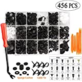 Hood Etc. Bumper Safe And Reliable 456 Pcs Car Retainer Clips /& Plastic Fasteners Kit Auto Door Panel Trim Clip Rivets Push Pin With Fastener Remover For Decorating Car Body Fender