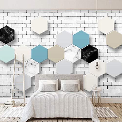 CYYYjz Fototapete 3D Geometrische Backsteinmuster Moderne Abstrakte Schlafzimmer Wohnzimmer Tv Hintergrund Wanddekor Fototapete @ 120X100Cm