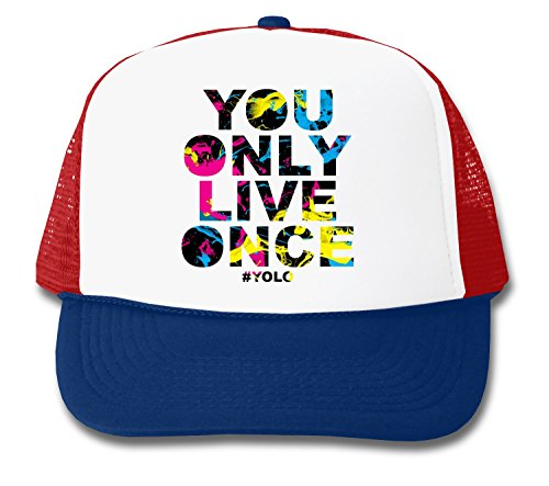 You Only Live Once YOLO Series Excuse Douchebag Carpe Diem Unisex Truckerkappe One Size