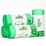 30 Litri x 100 sacchetti allBIO Sacchetti Pattumiera Organico 100% Biodegradabili e Compostabili 30 Litri / Sacchetti Contenitore Rifiuti