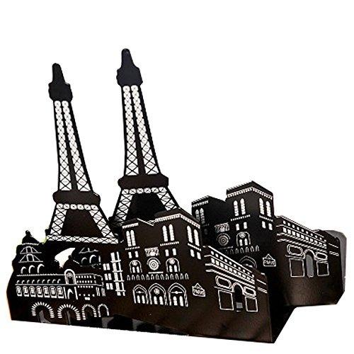 Winterworm Un paio di architettura, moda europea Thickening Iron Libreria Casa, ufficio e scuola Fermalibro Studio-Fermalibri in metallo Paris Eiffel Tower